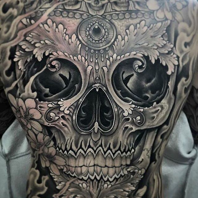 We're stoked to have the great artist behind this sick back piece @antonyflemming featured in our NEW book REAPERS!!! Order your copy of REAPERS today for $39.95 at www.illustratedmonthly.com!