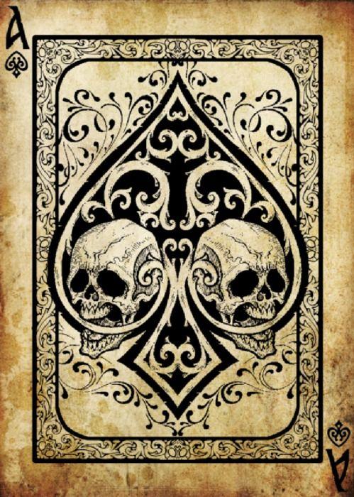 Skull ace card #skulls
