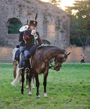 La Fanfara dei Lancieri di Montebello si esibisce a Santa Croce Effetto Notte 2014 | -Military News from Italy-