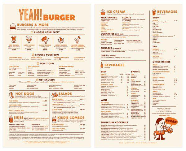20 impressive restaurant menu designs restaurant