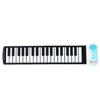 Portátil 37 teclas Flexível de Silicone Roll-up do Teclado de Piano Órgão Eletrônico Instrumento Educativo para Crianças UE/EUA/UK Plug Opcional