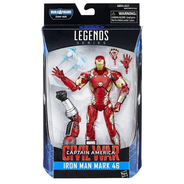 Marvel Legends Iron Man Mark 46 6-Inch Action Figure BAF Giant Man Civil War #Hasbro