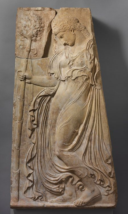 Relief with a dancing maenad, ca. 27 b.c.–14 a.d.; AugustanRoman copy of a Greek relief attributed to Kallimachos, ca. 425–400 b.c.Pentelic marble