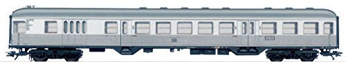 Cab Control Car. Gauge: H0. Era: III. Prototype: German Federal Railroad (DB) cab control car 2nd class with a baggage area (type BD4nf-59). 'Silberling / Silver Coin' design. 'Rabbit Hutch' end with...