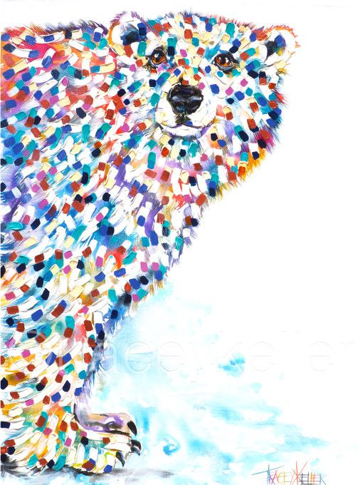 Cool McCool   Tracey Keller Art   Originals and Prints polar bear painting