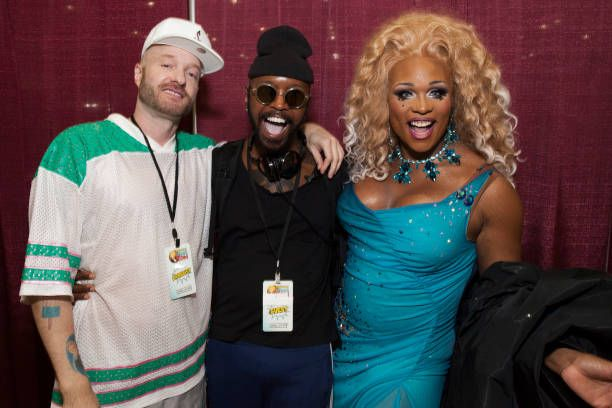 Cazwell, Paisley Dalton and Peppermint attend the 3rd Annual RuPaul's DragCon at Los Angeles Convention Center on April 29, 2017 in Los Angeles, California.