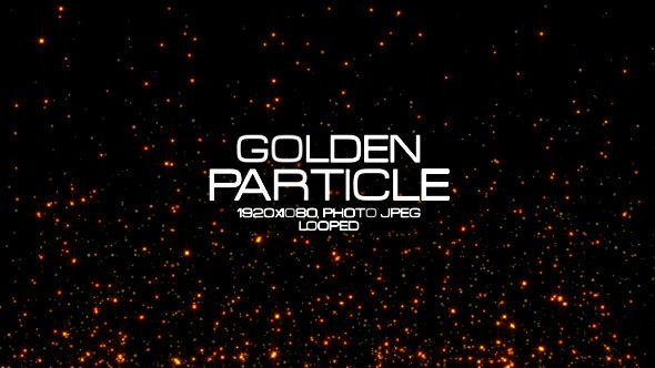 Golden Particle Video Animation | Full HD 1920×1080 | Looped | Photo JPEG | Can use for VJ, club, music perfomance, party, concert, presentation | #awards #blinking #fashion #glamour #glitter #glow #gold #lights #loop #luxury #shine #show #sparkle #wedding #yellow