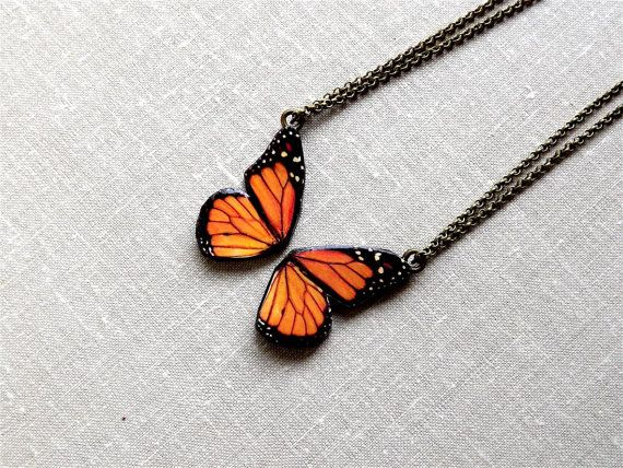 Love this #Butterfly Friendship Necklace Best Friend by @Eva B on #Etsy a cool new shop to @Sneak Attacks with love!