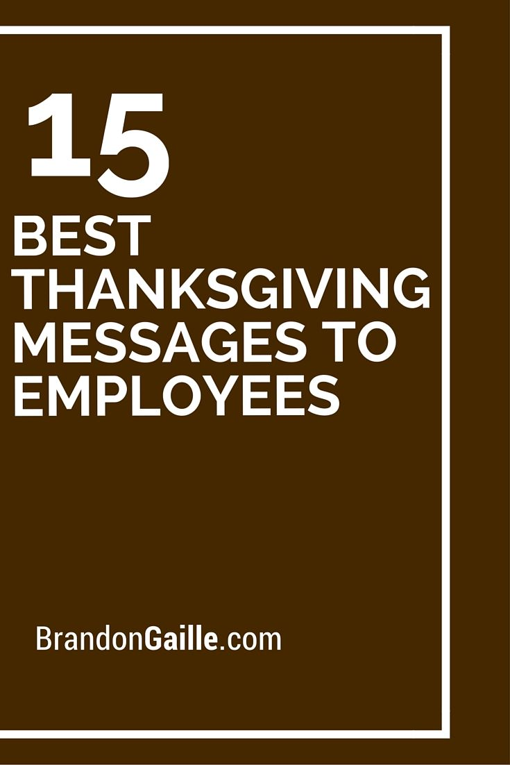 17 best thanksgiving messages to employees