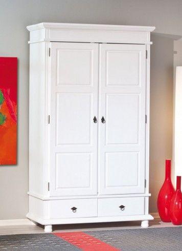 Superb Kleiderschrank DANZ Schrank mit T ren Kiefer wei lackiert