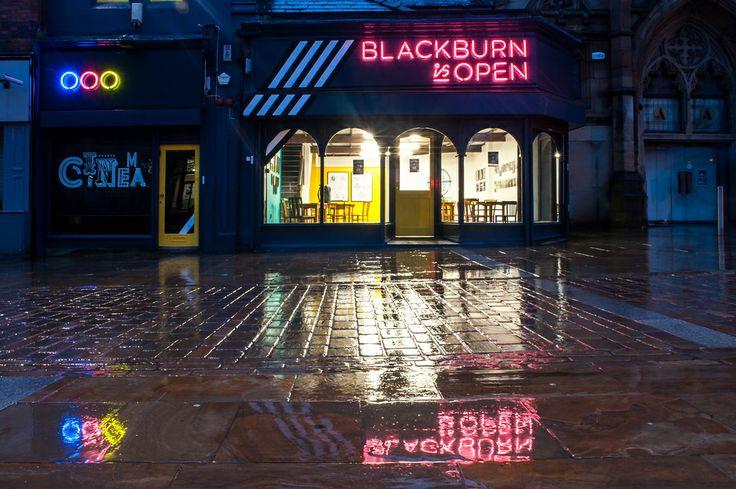Blackburn is Open shop front