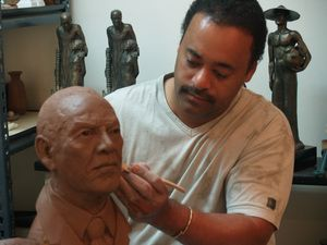 Working on a very important figure... The father of my wife. Crucial that I get this one right.