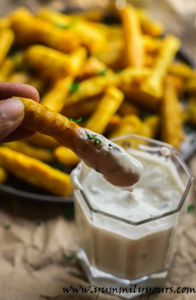 Chickpea Fries, tastes just like French Fries, just without the starchy potatoes (and better protein content).