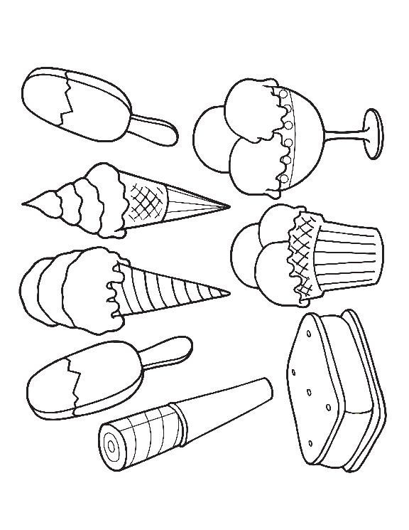 Image for Ice Cream Sandwich Coloring Pages