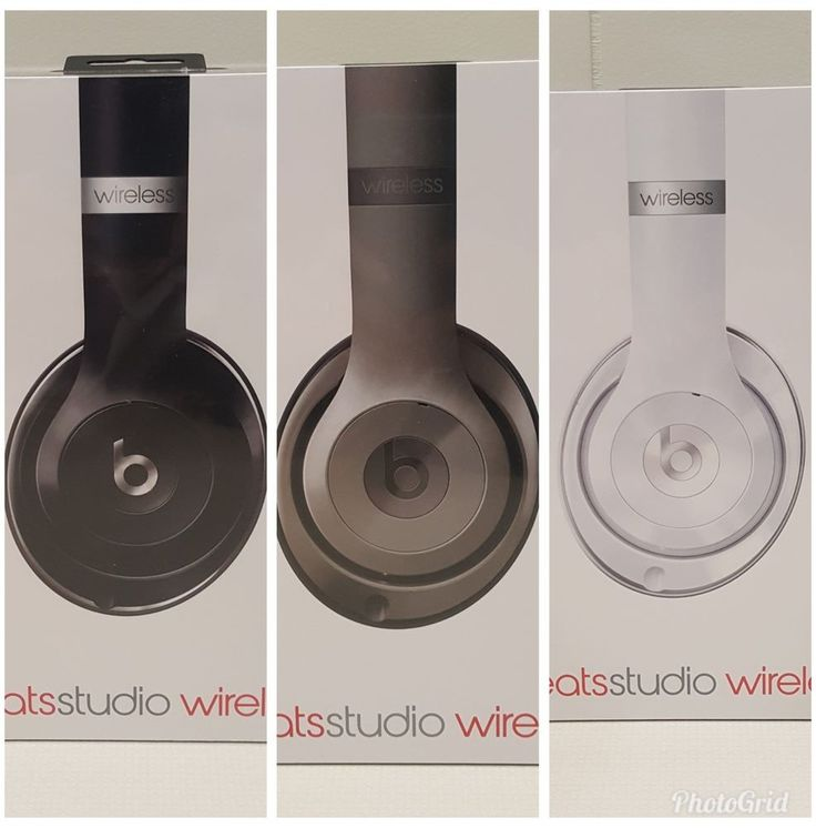 Beats by Dr Dre Headphones Studio 2 Gloss White Titanium Gloss Black Wireless #BeatsbyDrDre