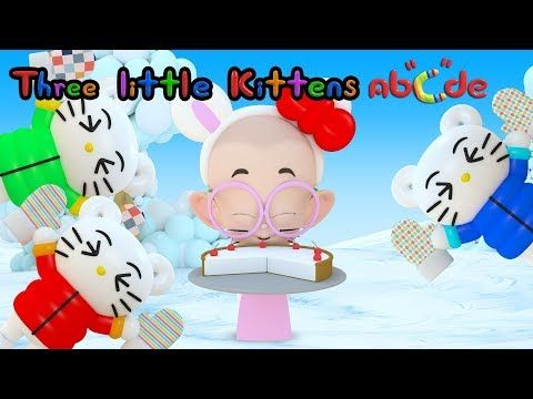 THREE LITTLE KITTENS lost their mittens | Meow! Meow! Meow! song | by Abcde in Balloon World - YouTube
