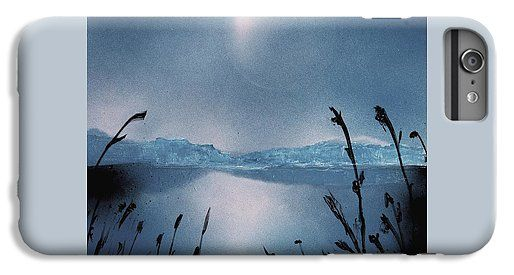 Moon Fog IPhone 6 Plus Case Printed with Fine Art spray painting image Moon Fog by Nandor Molnar (When you visit the Shop, change the orientation, background color and image size as you wish)