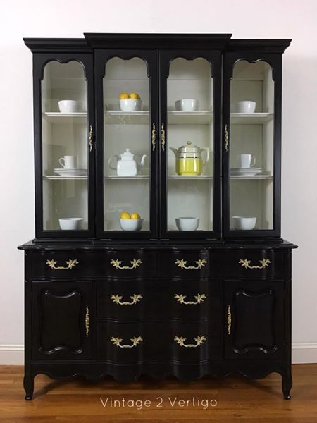 Midnight Black China Cabinet Hagerstown Md 850 By Lindsey Jones Mackley Of Vintage 2 Vertigo In Style Pinterest Cabinets Thrift