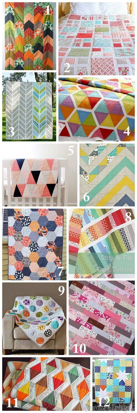 TONS of quilt ideas and inspiration! {Sawdust and Embryos}