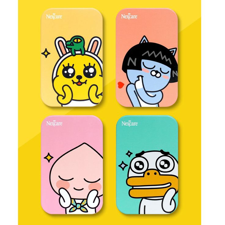 Kakao Friends X Nexcaew 3M Blemish Clear Cover Neo Apeach Muzi Tube Tin Case