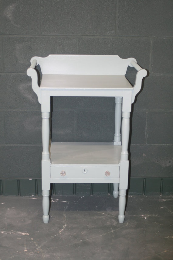 Old Washstand in Beachy Blue by ChloeandJack on Etsy, $125.00: Beachi Blue, My Rooms, 12500, Etsy, 125 00, Washstand