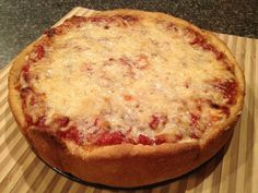 Chicago Style Pizza Dough Recipe Breads, Main Dishes with all-purpose flour, cornmeal, salt, instant yeast, olive oil, butter, corn oil, warm water