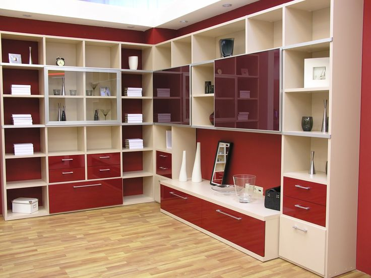 Open color coordinated wall unit