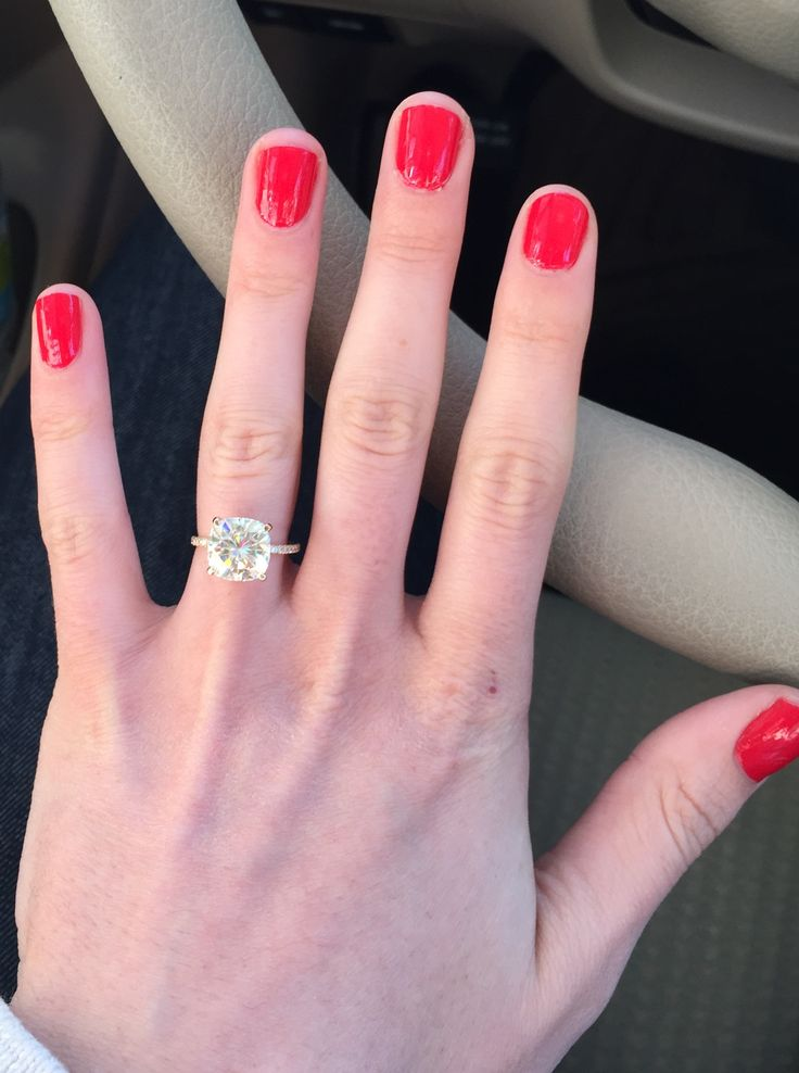 Help! Need pics of your large Moissanite ring!! - Weddingbee | Page 4