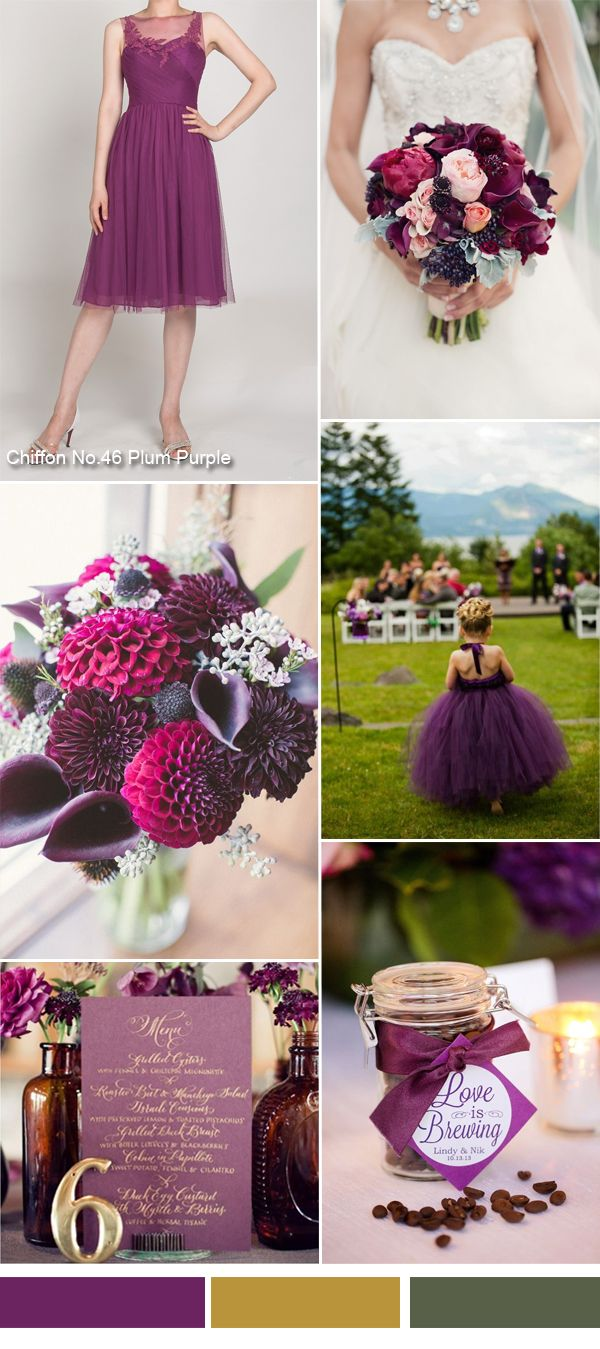 TBQP300 plum purple fall wedding color ideas and short plum purple tulle bridesmaid dress