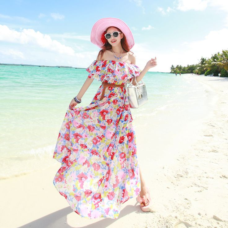Long maxi dress falbala floral high waist women dress MF-49986 cotton