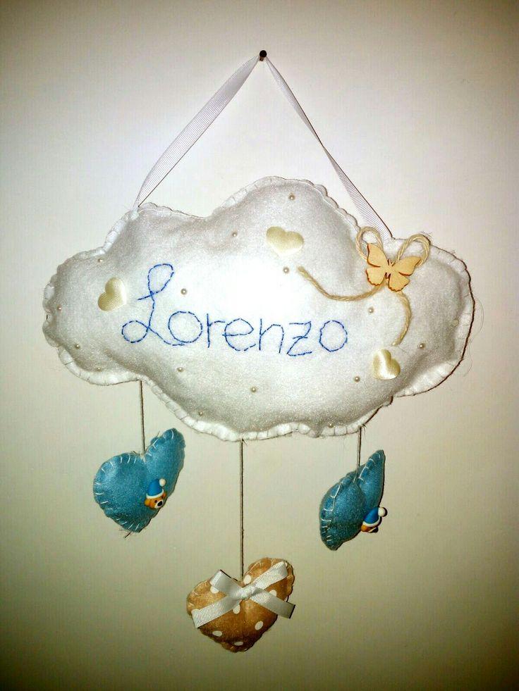 nuvoletta nascita in pannolenci