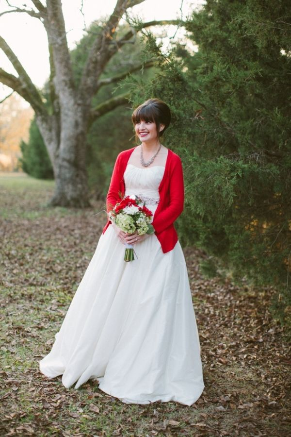 Am digging the cardigan and wedding dress look. More pouf though.  Maggie Sottero gown and AE cardigan.