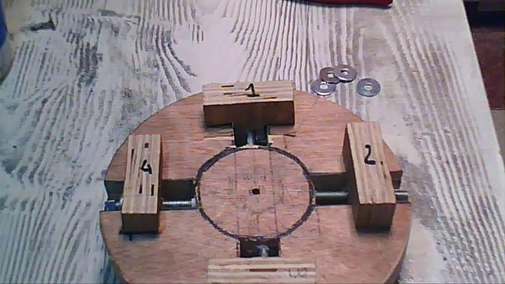 (make-haz ) chuck -Plato 4 Garras para torno de madera einhell