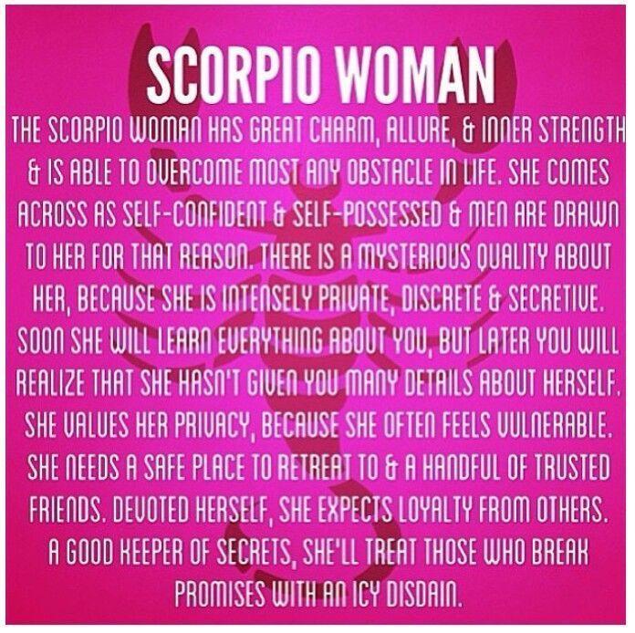 I'm a Scorpio Woman...
