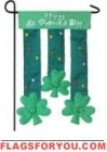 Shamrocks Applique Garden Flag