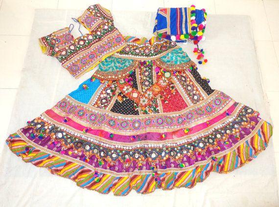 Sanedo Chaniya choli / Kutch embroidered chaniya choli / Patchwork lehenga choli / Banjara ghagra choli / Navratri wear Ghagra choli