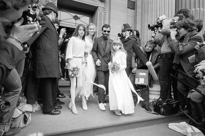 Matrimoni vintage 1981, Londra. Ringo Starr e Barbara Bach