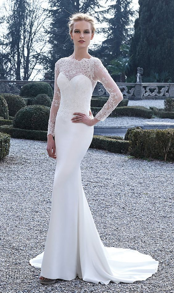 Jillian 2016 Wedding Dresses with Long Sleeves / http://www.deerpearlflowers.com/fall-winter-long-sleeve-wedding-dresses/2/