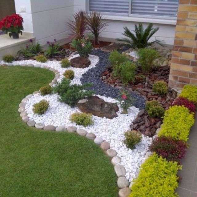 24 Stunning Small Rock Gardens You Need To See Small Front Yard Landscaping Front Yard Landscaping Design Rock Garden Landscaping