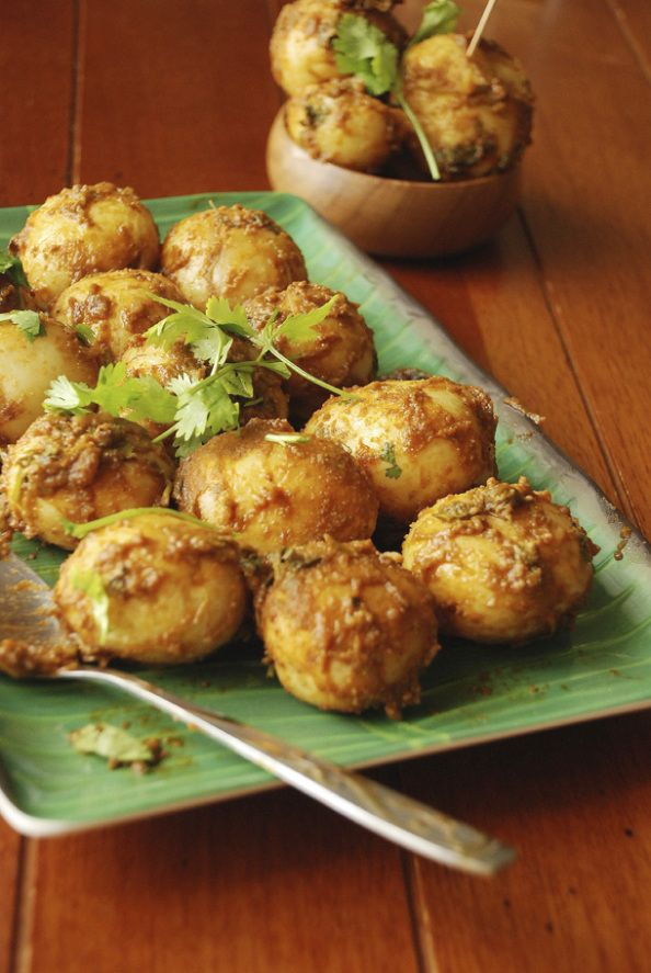 64 best bengali recipes images on pinterest indian food recipes spicy baby potatoes or aloor dum kolkata street style forumfinder Images