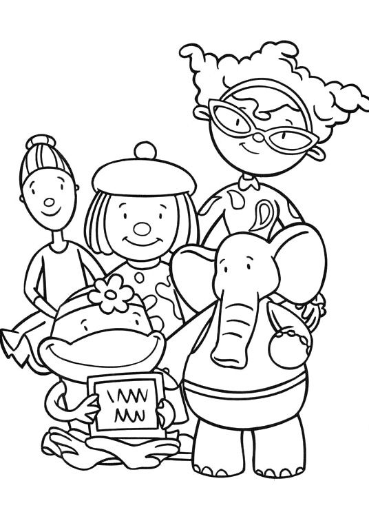 bunnytown coloring pages - photo#1