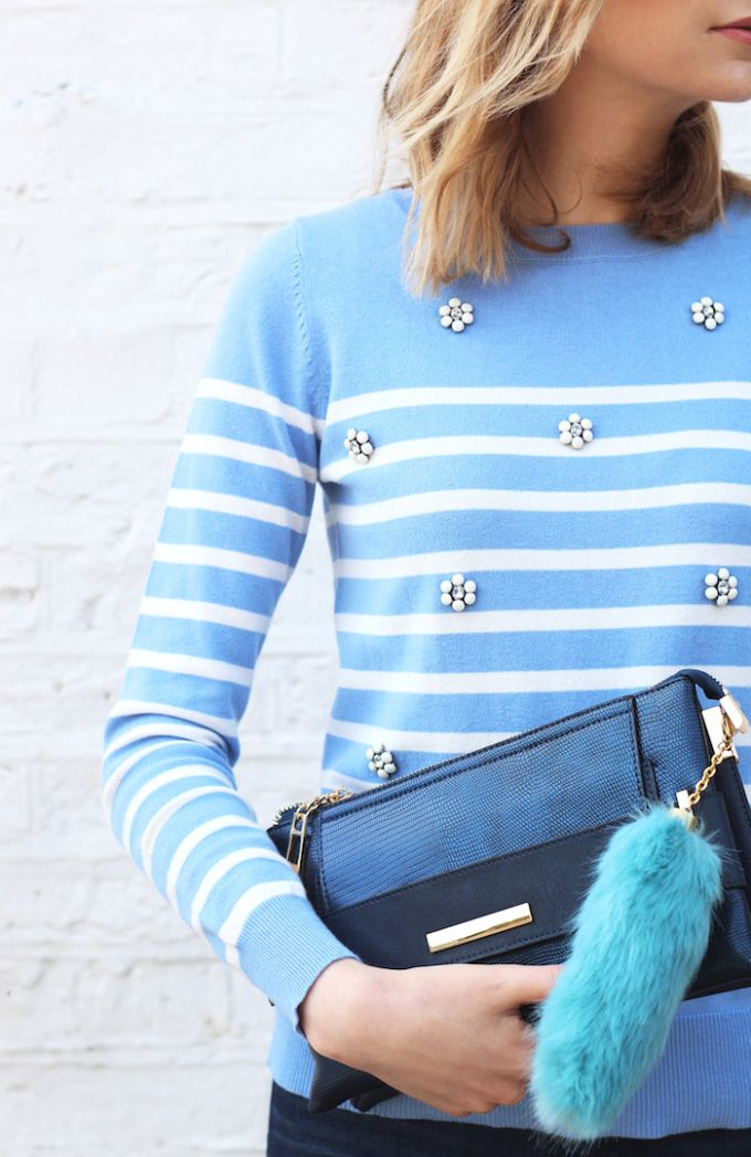 How to wear embellished knitwear