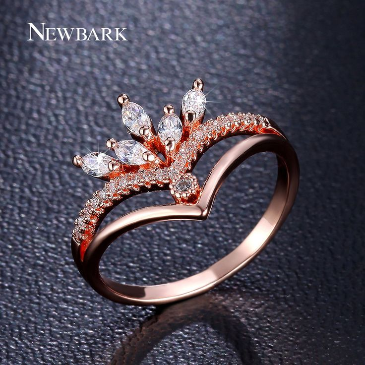 NEWBARK Gorgeous Crown Ring Engagement Rings For Women 5pcs Marquise Cut CZ Anel Feminino Cocktail Joias-in Rings from Jewelry & Accessories on Aliexpress.com | Alibaba Group