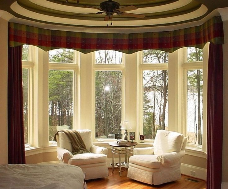 bow window treatments ideas more