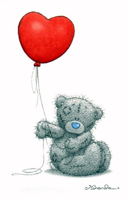Me to you Bear with a Heart Balloon