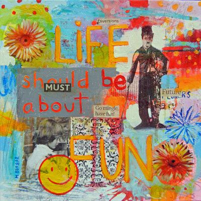 Life Should Be About Fun - http://www.contemporary-artists.co.uk/paintings/life-should-be-about-fun/