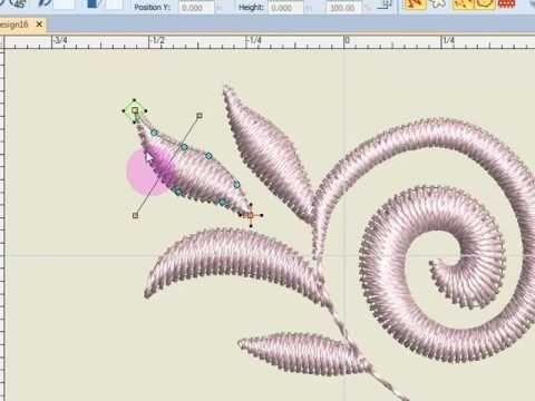 Master Bernina V8 - Basics of Editing - Reshaping Designs