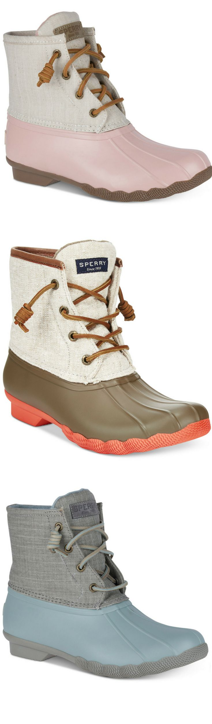 Sperry Women's Saltwater Duck Booties #boots #affiliate