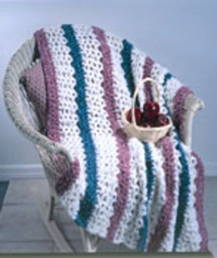 Crochet Afghan Patterns With Hearts : Crochet 3-Color Afghan free pattern. Crochet - Afghans ...