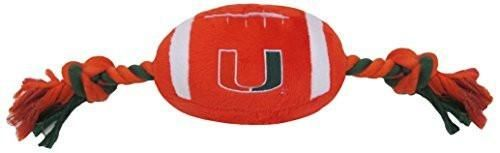 Pets First Collegiate Miami Hurricanes Football Pet Plush Toy